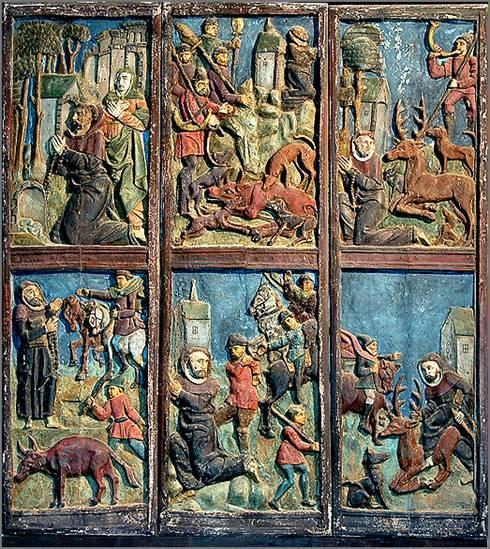 Bas-reliefs de l'église de Lannédern