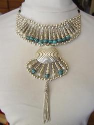 Collier Danse orientale Argent et Turquoise 25 €