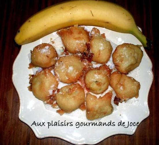 Beignets aux pommes et bananes - Pate a beignet a la biere ...