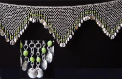 Ceinture Sequin Argent pendants perles olive 22,00 €