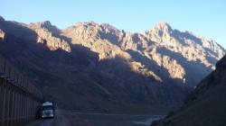 Caminando hasta la frontera chilena en Los Andes