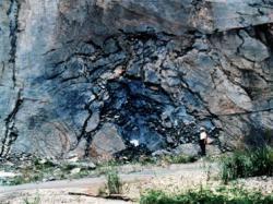 Vestige du réacteur naturel d'Oklo