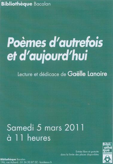Annonce dédicace de Gaëlle Lanoire