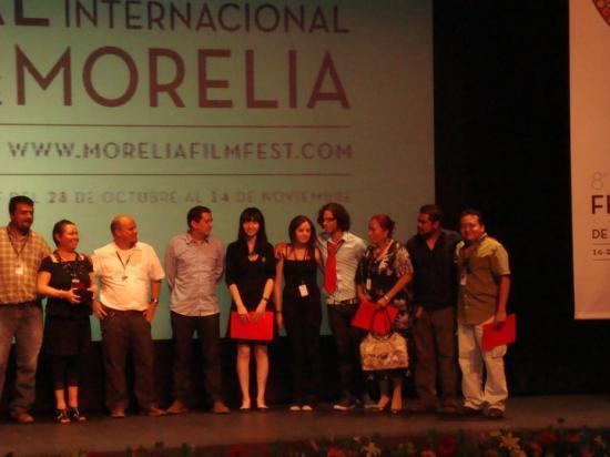 Miguel Ventura à Morelia, octobre 2010: remise des prix.