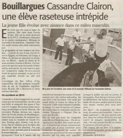 Midi-Libre du mardi 8 mars 2011