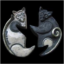 Boîtes yin et yang chats