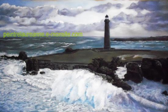 dessin au pastel sec paysage la mer