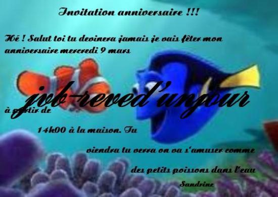 faire part bapteme nemo