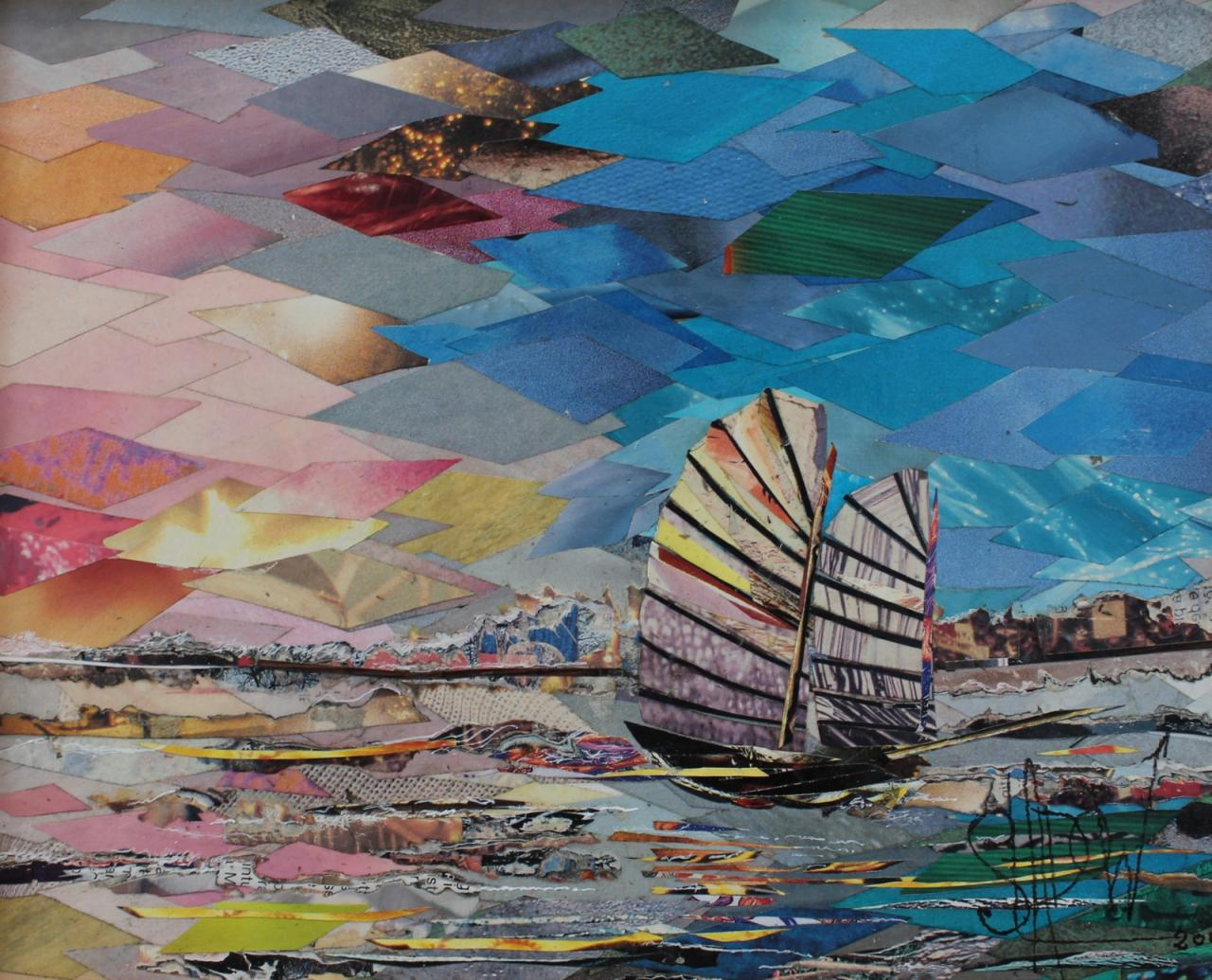 Samuel sladow collage collagiste peinture marine pablo for Braque peintre