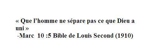 le divorce de la bible - Verset Biblique Mariage