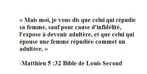 Le Divorce De La Bible