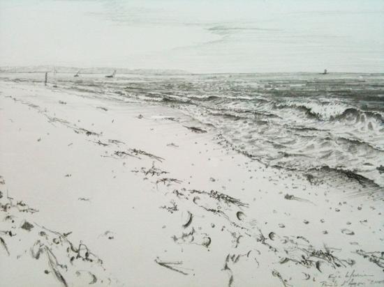 Pointe d'Agon. Crayon 2B. 2001