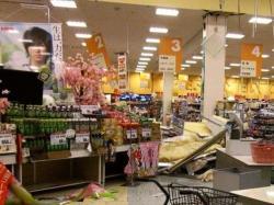 Dans un supermarché de la préfecture de Fukushima
