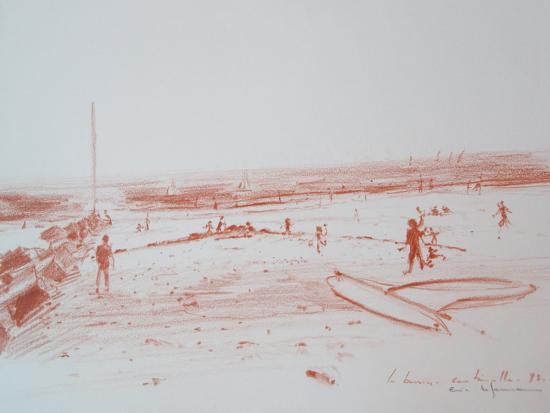 Le bassin. Coutainville . sanguine . 1993.