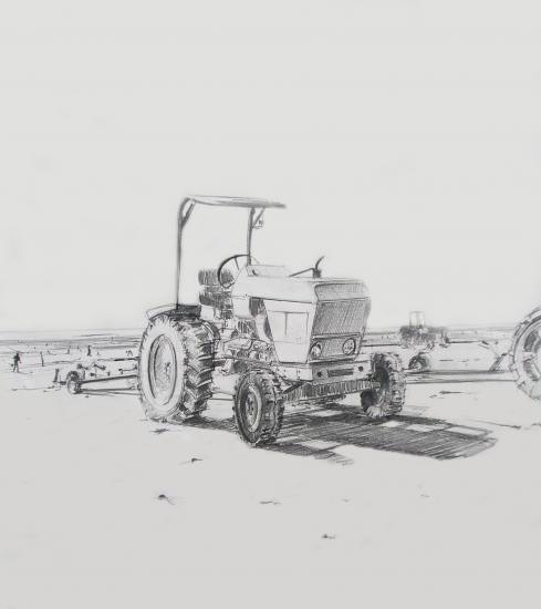 Tracteur au Passous. 2000