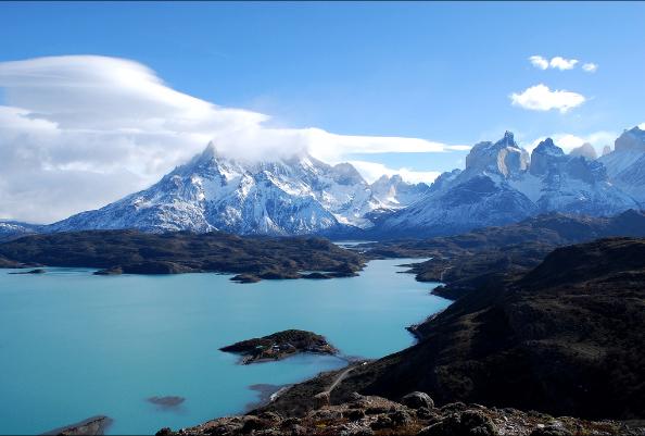 Vista de los Cuernos del Paine