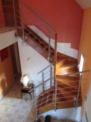 Rambarde escalier inox